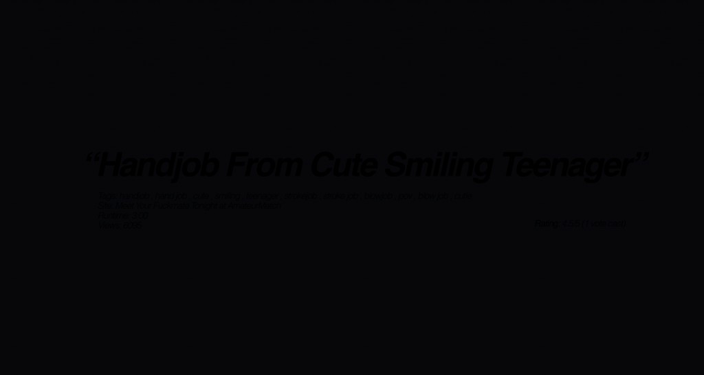 handjob from cute smilling teenager full